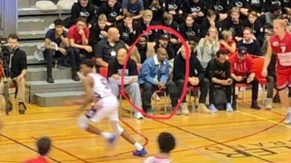 Kanye West kijkt doodleuk naar basketwedstrijd in Limburg (en gaat daarna een hapje eten in Genk)