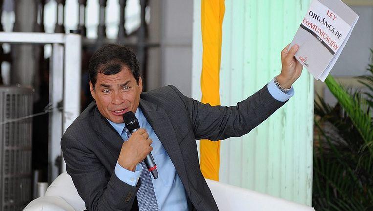 De Ecuadoriaanse president Rafael Correa Beeld epa