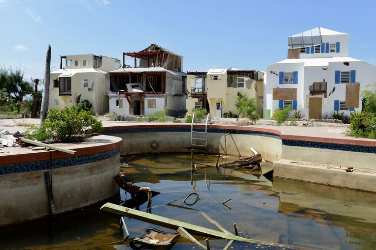The Ocean Club op het eiland Sint Maarten, een jaar na orkaan Irma. Beeld ANP