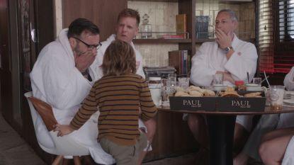 Jan Schepens huilt niét wanneer zijn zoontje hem verrast (maar James lost het op)