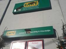 Lichtbakken vernield bij supermarkt Emté in Kaatsheuvel