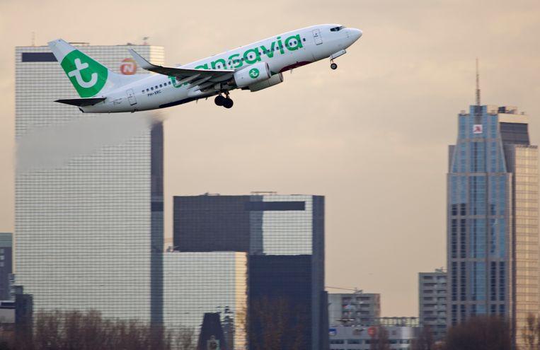 Een vliegtuig van Transavia. Beeld Anp