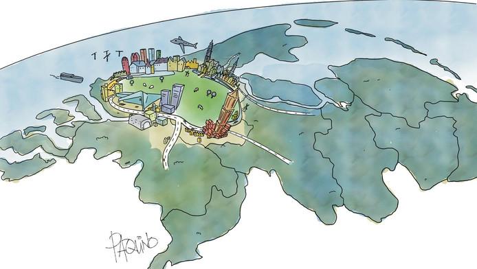 Amsterdam, Rotterdam, Den Haag en Utrecht als het New York van Nederland.