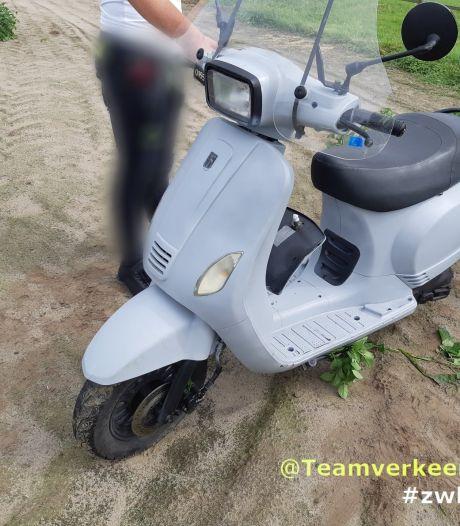 Jongen (14) rijdt op gestolen scooter door Oud Gastel en heeft taser en boksbeugel bij zich