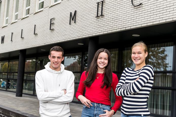 De genomineerden voor de Mariska Lips Award 2019, vlnr Maarten Schut, Joann Leijten en Julia van Dijk.