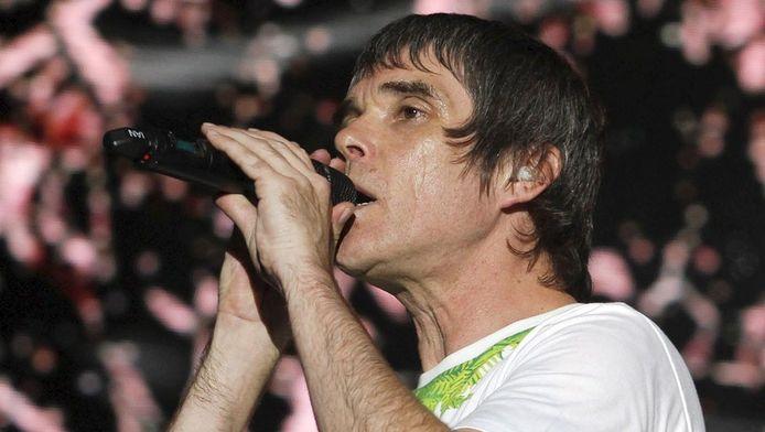 Ian Brown, zanger van The Stone Roses op Benicassim.
