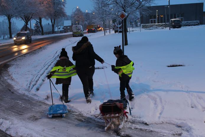 Sneeuw Brugge/Beernem