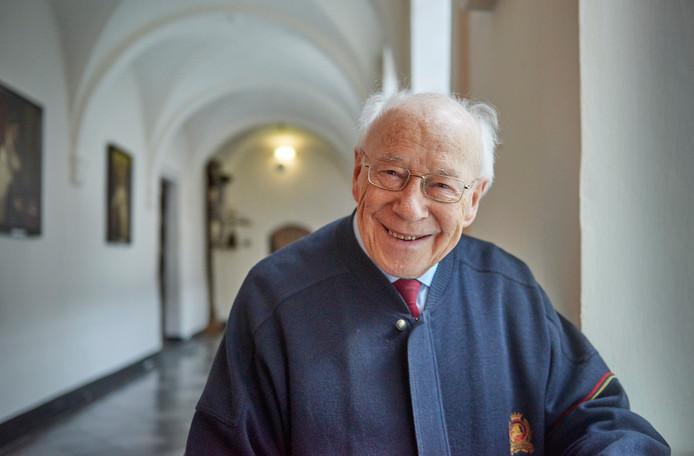 Pater Falco te Boxmeer. Hij kreeg een Osje van verdienste. Fotograaf: Van Assendelft/Jeroen Appels