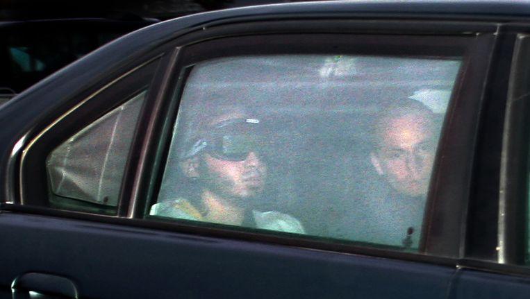 Verdachte Samir A. arriveert in 2006 bij de 'bunker' in Amsterdam. Beeld anp