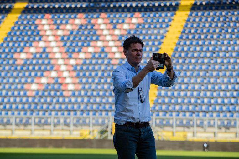 Burgemeester Paul Depla in een leeg NAC stadion. Beeld ANP