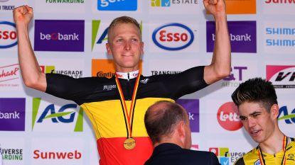 Belgisch kampioen Tim Merlier die zijn nationale trui niet kan showen? Dan organiseert moeder wel een koers