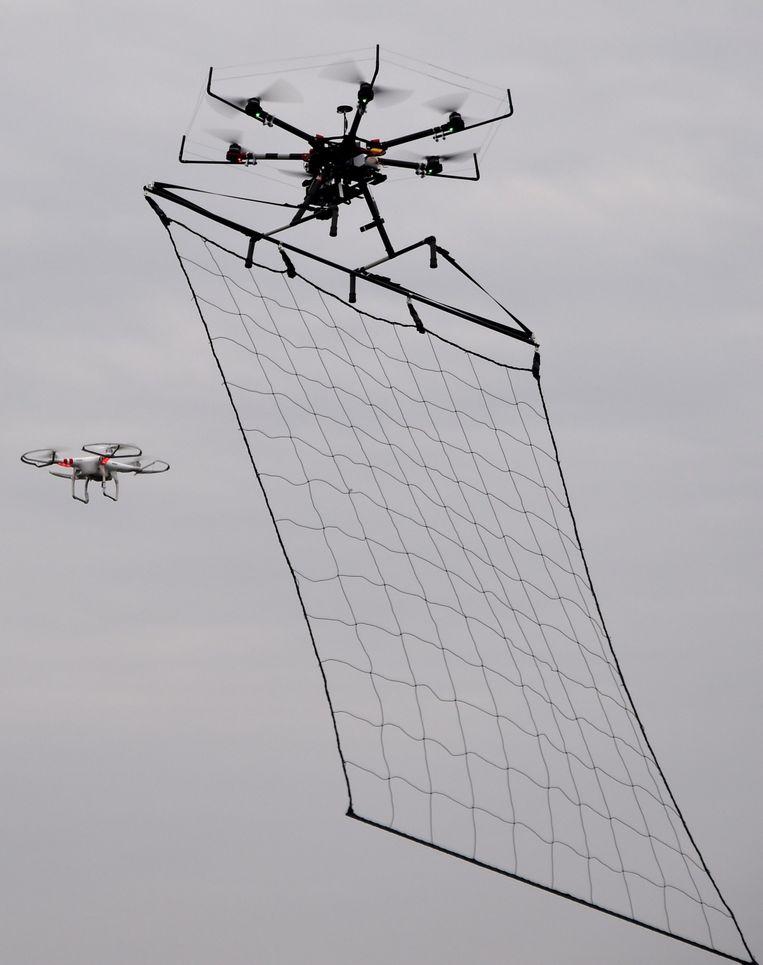 Een anti-terrorisme drone in Tokyo. Beeld afp