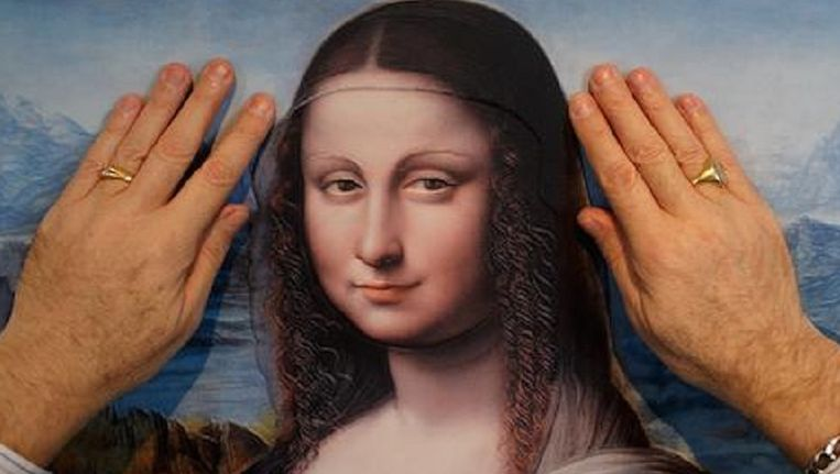 Mona Lisa in 3D in het Museo del Prado.