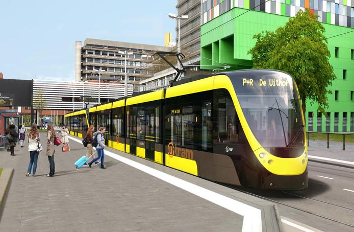 De Uithoflijn, zoals die in 2018 zal gaan rijden.