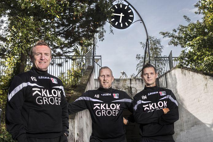De drie trainers van NEC met vlnr: François Gesthuizen, Adrie Bogers en Rogier Meijers.