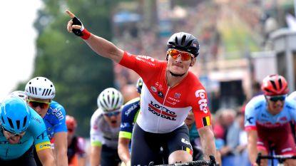 André Greipel sprint naar zege in eerste rit Baloise Belgium Tour en pakt leiderstrui