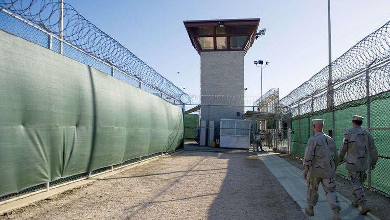 Beeld van de Amerikaanse gevangenis Guantanamo Bay. Beeld afp