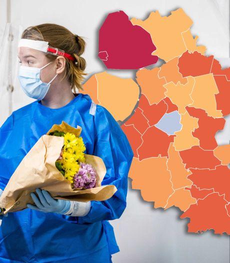 Kaart | Regio's pieken weer, op Urk in 7 dagen tijd 1 procent van de bevolking besmet