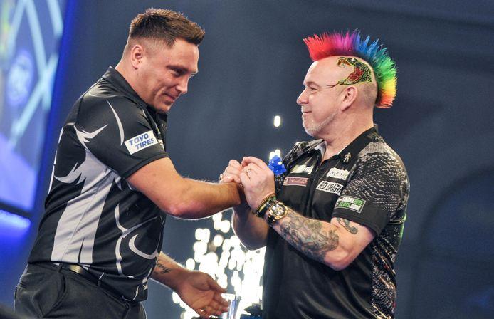 Gerwyn Price en Peter Wright troffen elkaar op het WK pas in de halve finale, op het EK al in de tweede ronde?