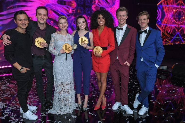 De acteurs van Nachtwacht vielen twee keer in de prijzen. Ze kregen een award voor Ketnet-serie van het jaar en Film van het jaar.