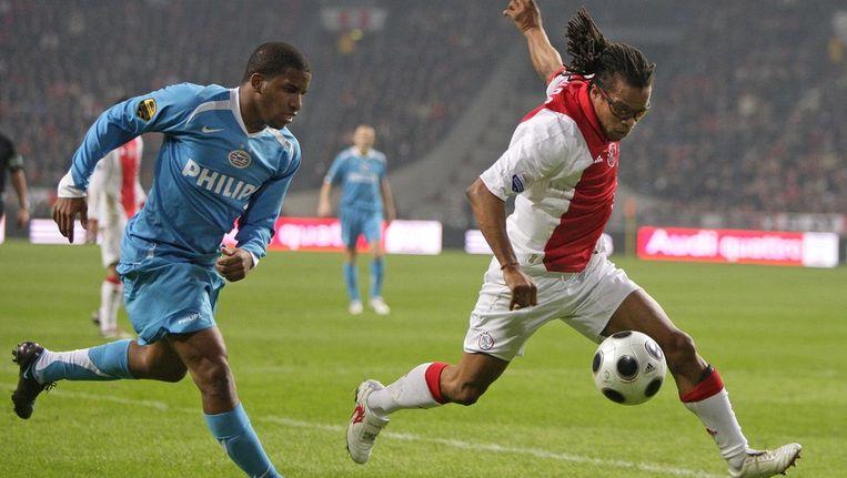 Davids spelend voor Ajax in 2008... Beeld anp