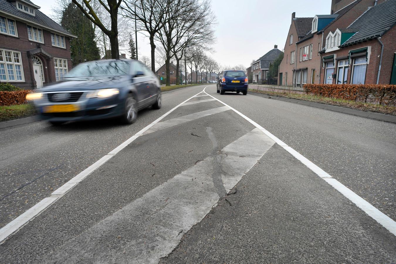Eindhovenseweg in Steensel (archieffoto).