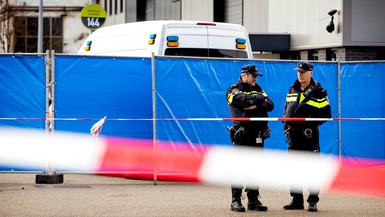Onderzoek van de politie na de moord in Amsterdam-Noord Beeld ANP