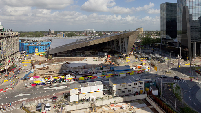 De facade van het vernieuwde station Rotterdam Centraal.