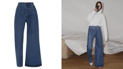 Verovert deze asymmetrische jeansbroek binnenkort het straatbeeld?