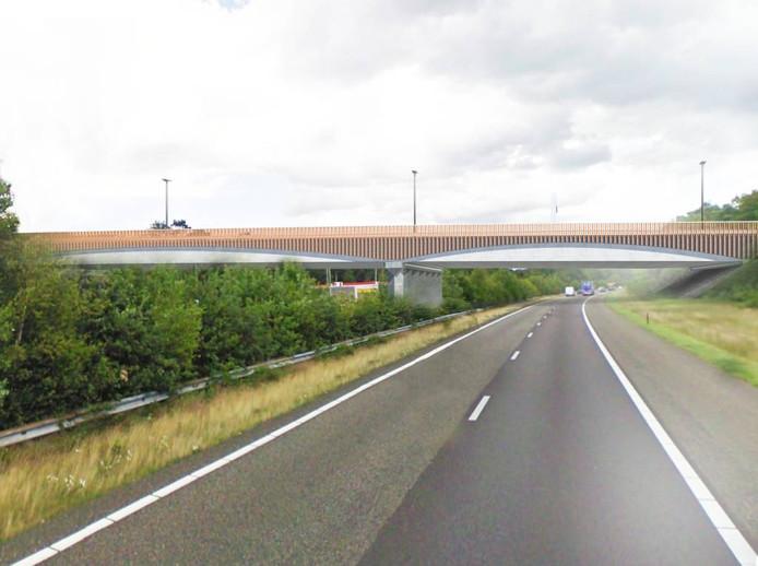 Het nieuwe viaduct, waarop de Westparallel wordt aangesloten, gezien vanuit de richting Eersel/België.