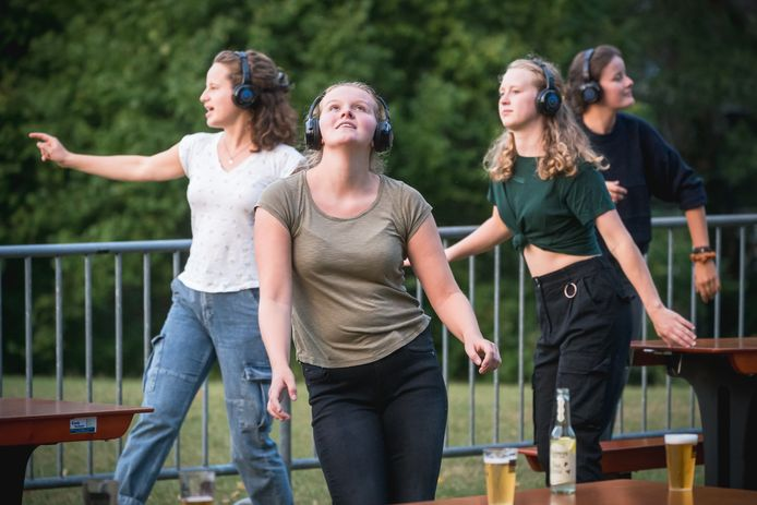 Silent Disco in Torckpark Wageningen.