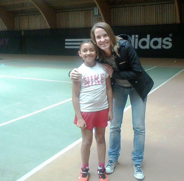 Sheilah en haar voorbeeld Justine Henin.