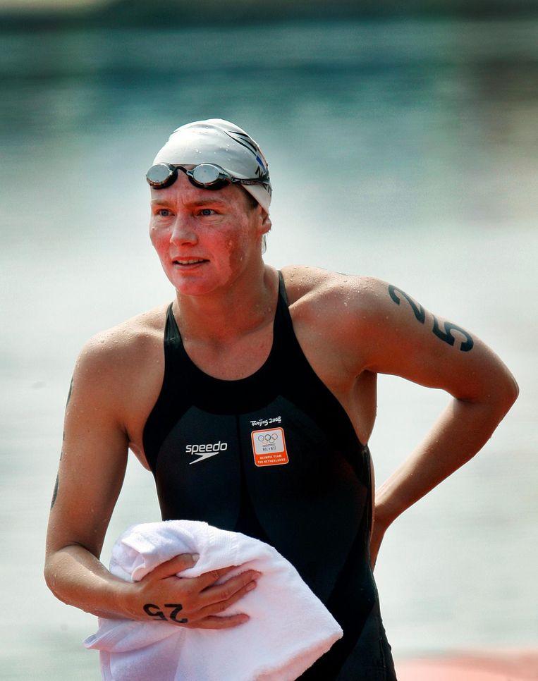 Edith van Dijk bij de Olympische Spelen in Peking 2008. Beeld anp