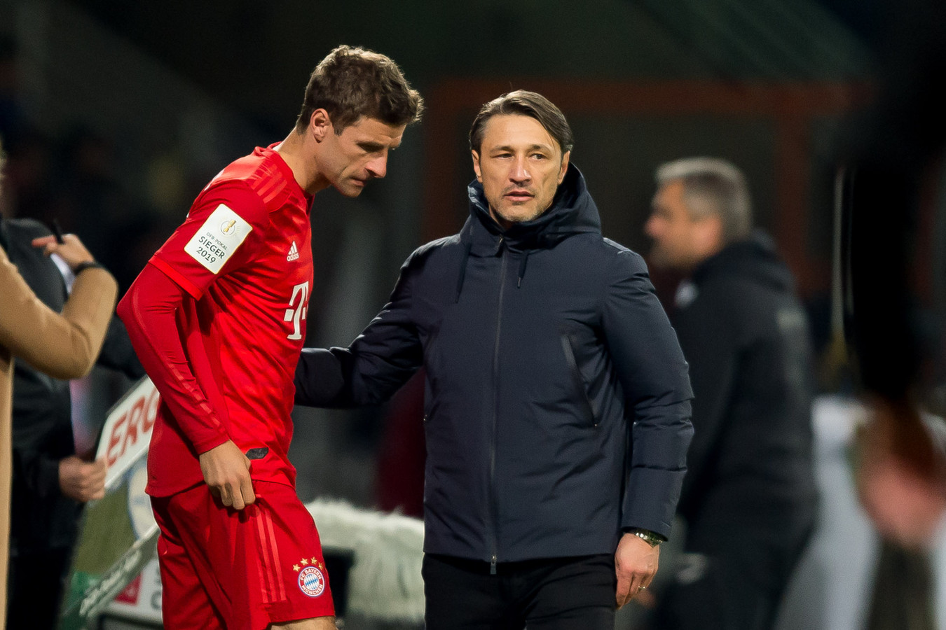 Thomas Müller en Niko Kovac.