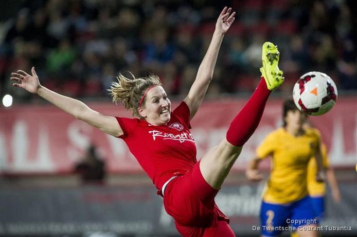 Ellen Jansen was één keer trefzeker voor Oranje.
