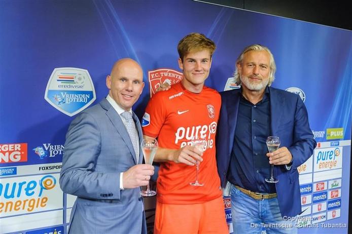 Alfons Wispels (rechts), met Joachim Andersen en Jan van Halst