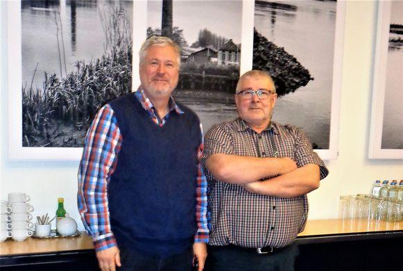 Algemeen directeur Frank Maeremans en kersvers voorzitter Louis Bosmans.