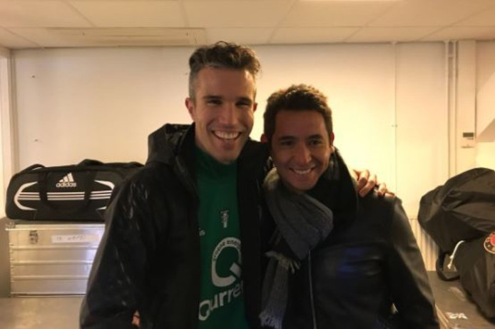 Robin van Persie en Sebastian Pardo