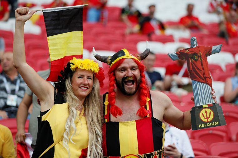 Belgische fans tijdens het WK in Rusland.