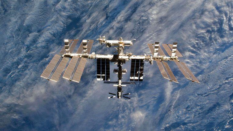 Een close-up van het ISS.