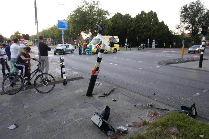 Ongeluk op de Boutenslaan in Eindhoven.