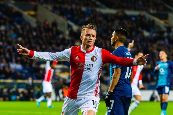 Feyenoord scoorde maar in een van zijn laatste vijf uitwedstrijden. Sam Larsson en Eric Botteghin maakten de doelpunten bij het 3-2 verlies tegen Porto (2019).