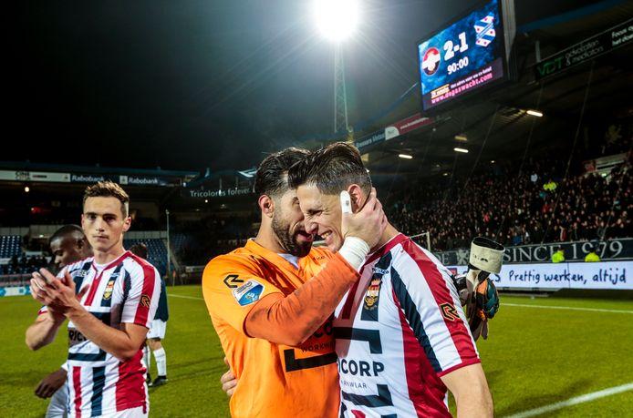 Een geëmotioneerde Fran Sol na de bekerzege van Willem II op Heerenveen op 25 oktober 2017. Archieffoto