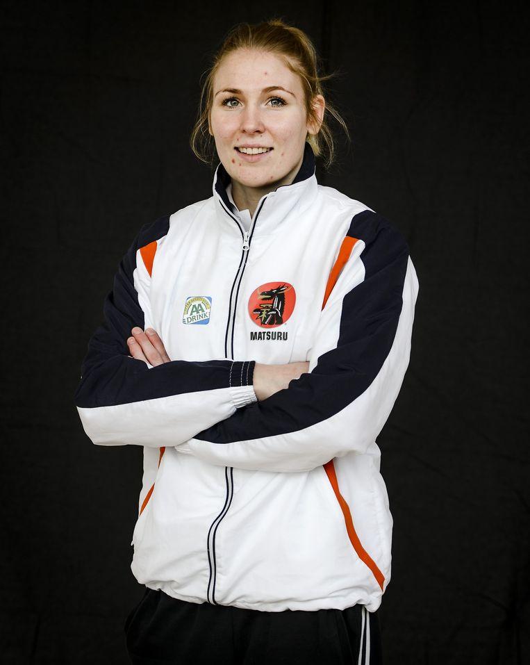Kim Polling tijdens een persbijeenkomst in de aanloop naar de EK judo in het Russische Kazan. Beeld null