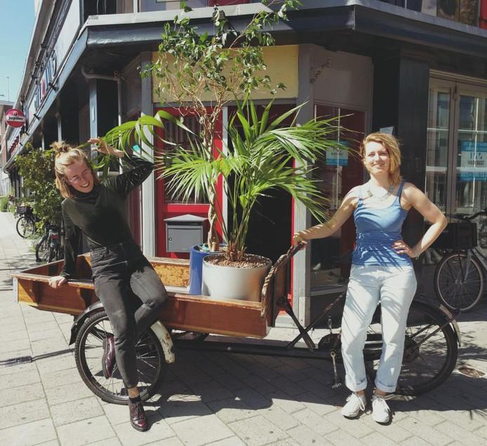 Naomi de Bruijne (links) en Marije Franken van het plantenasiel in Haarlem weten uitgedroogde exemplaren weer tot leven te wekken.