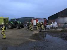Brandweer Eibergen, Haaksbergen en Vreden samen in actie in Oldenkotte
