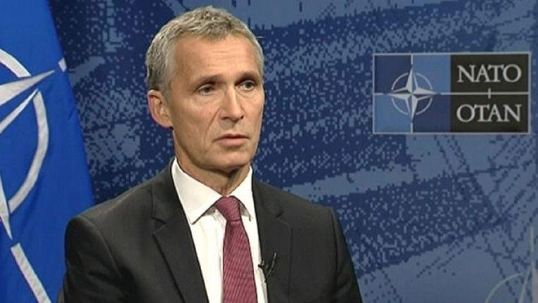 Secretaris-generaal van de NAVO, Jens Stoltenberg, in een interview met Terzake op Canvas.