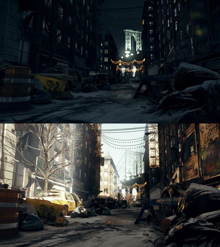 Nacht en dag in The Division. Beeld Ubisoft