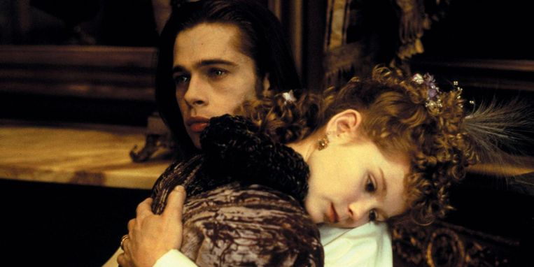 Brad Pitt en Kirsten Dunst in 'Interview with the Vampire'.