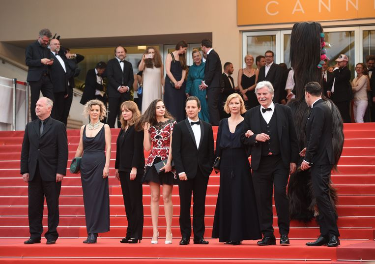 De cast van 'Toni Erdmann'.